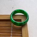 【玉缘雅轩】6.20满色艳绿17.2MM指环,微信yyyx666
