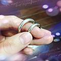 秀一对手工铂金窄厚泥鳅背戒指