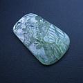 【玉缘雅轩】6.25玻璃种晴底精雕泛光山水牌,微信yyyx666