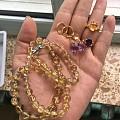 四件紫晶黄晶钛晶24k饰品1000元一件
