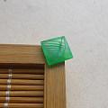 【玉缘雅轩】6.27冰种甜绿满色起胶方形戒面,微信yyyx666