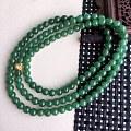 手机实拍天然翡翠A货满绿精美项链