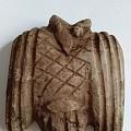文化时期陶土枭鸟