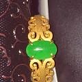 网上买了个翡翠戒指,帮忙看看,谢谢了