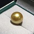 高品质 [色]收藏级别   天然浓金珠 13-14mm.几乎无瑕  超亮眼 ...