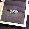 【耳钉05141】白18K金钻石耳钉