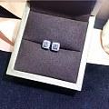 【耳钉05335】白18K金钻石耳钉