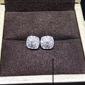 【耳钉04606】白18K金钻石耳钉