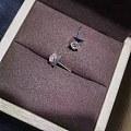 【耳钉06202】白18K金钻石耳钉