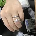 50分钻戒 对比 1克拉钻戒,实拍大小区别[玫瑰],答客户提问系列