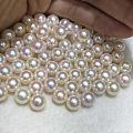极光粉亮的淡水珍珠,数量稀少~ 珠光超级粉而亮,品质特别好,和akoya海水...