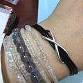 皮绳项链DIY·别致的∞银扣