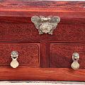 血檀古典中式拱面龙凤呈祥镜箱复古珠宝首饰盒仿古