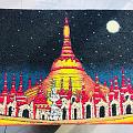 缅甸这种画,中国朋友说年画