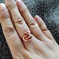 第一次做繞線玫瑰戒指