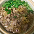 晒首饰不是高货没人看,还是发点吃的吧哈哈 京东买的一袋酸菜一斤羊肉,只放了盐...