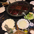 重庆九宫格老火锅,吃完了才照,光盘行动了