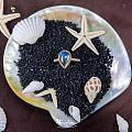 彩虹月光石戒指,我叫它海的女儿