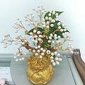手工制作珍珠招财树