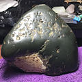 绿底色黑青籽、僵点水晶无规则分布,细度油性爆表,极度头大😂
