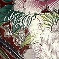 《富贵吉祥图》白瓷珐琅彩大盘