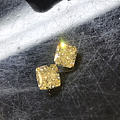 1.3ct和1.0ct中彩黄FY+++钻石