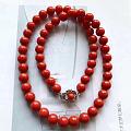 9mm红珊瑚项链