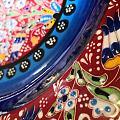 土耳其珐琅彩花卉大盘