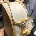 看到一条很漂亮的手工绕银丝作品