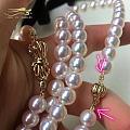 有人知道这种珍珠链结尾怎么收的吗?