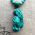 绿松石龙雕刻件的盘玩之路,手疼啊😂😂😂