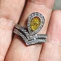 我的小黄钻戒指也做好啦!