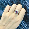 最近超爱的小红宝石戒指