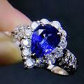 大家看下这个蓝宝戒指怎么样