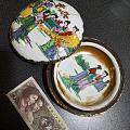 《西厢记》故事陶瓷粉盒_乾隆年制款