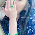 ootd!我是真的喜新厌旧的人,我爱这个翡翠蕾丝戒指的日常实用性~手镯戒指秀.