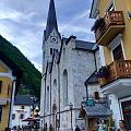 """哈尔施塔特,号称""""世界上最美小镇""""。"""