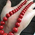 很少见的一串momo圆珠塔链 色纯 珠子大小上身也刚好合适的