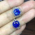 两颗骨灰级蓝宝石戒指