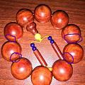 小叶紫檀珠子晒裂纹了