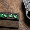 晴绿水裸石——蛋面一组