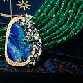 欧泊、祖母绿珠子手链