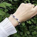 #客订#水滴形蓝宝石钻石手链