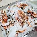 盐焗虾盐焗花螺,芝士焗韩国辣年糕
