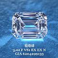 大冰糖祖母绿钻石5.01 FVS1 EXEX GIA N现货