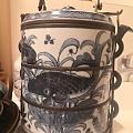 青花瓷鱼藻纹饭盒