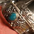 老银松石戒指