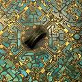 战国错金银嵌绿松石纹镜,真正的美,是不受时空限制的~