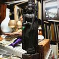 紫檀木刻,《琵琶女神》