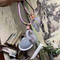 烟紫色的竹节双环
